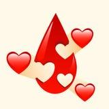 Doação da medicina do sangue e dos órgãos Foto de Stock