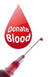 Doação de sangue Imagens de Stock Royalty Free