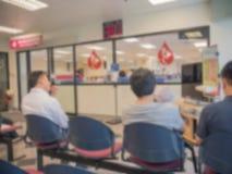 Doação de sangue, transfusão de sangue, verificação especificada, jejuando, cuidados médicos Imagens de Stock Royalty Free