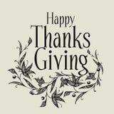 Doação feliz dos agradecimentos Imagem do vetor Foto de Stock