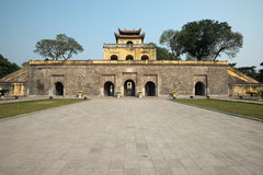 Doan Mon Gate, Imperial Citadel of Thang Long in Hanoi, Vietnam Royalty Free Stock Images