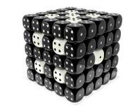 Dobbel cluster - Zwart n wit plastiek royalty-vrije illustratie