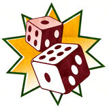 Dobbel - de illustratie van het Casino Stock Afbeeldingen