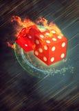 Dobbel en casino royalty-vrije illustratie