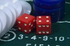Dobbel en Spaanders Stock Afbeelding