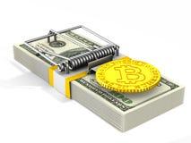 Dobbel in Financiën I Geïsoleerde 3d illustratie Stock Afbeelding