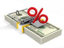 Dobbel in Financiën I Geïsoleerde 3d illustratie Royalty-vrije Stock Afbeelding