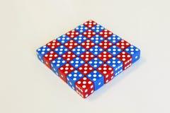 Dobbel het willekeurige rode blauw van het spelspel Royalty-vrije Stock Fotografie