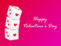 Dobbel liefdevector, valentijnskaartendag, roze valentijnskaartachtergrond Royalty-vrije Stock Fotografie