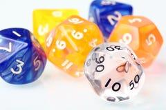 Dobbel reeks voor raadsspel Stock Foto