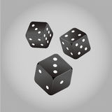 Dobbel vector, kubieke zwart-wit Stock Foto