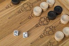 Dobbelt het backgammon speelgebied en royalty-vrije stock foto