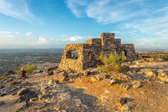 Dobbin`s Lookout. In Phoenix, Arizona. Built atop South Mountain by the Civilian Conservation Corps during the Great Depression, it is a popular destination for stock photos