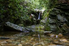 Dobbinsliten vik, blåa Ridge Parkway arkivfoton