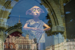 Dobby of reflection in window of Polonia Wax Museum at Main Market Square. Stock Image
