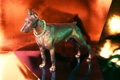 Doberman figure reflects Royalty Free Stock Image