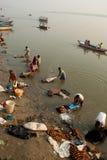 Dobhi in de Ganges stock foto's