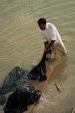 Dobhi in de Ganges stock foto