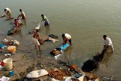 Dobhi in de Ganges stock afbeelding
