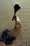 Dobhi in de Ganges Stock Fotografie
