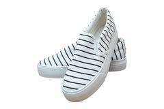 Dobierać do pary sneakers, rocznika paska kolor na białym tle Zdjęcia Royalty Free