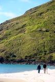 dobiera się brać przespacerowaniu wzdłuż plażę obrazy royalty free