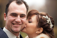 dobiera się dzień ich ślub Fotografia Stock