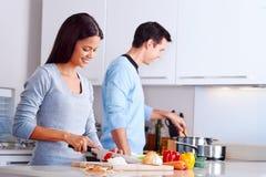 Zdrowy jedzenie kucharz zdjęcia royalty free