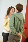 dobiera się romansowego nastolatka obrazy royalty free