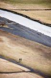 Dobiera się, Skà ³ gafoss, siklawa w południowym Iceland Zdjęcia Royalty Free