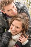 Dobiera się w miłości - Zaczynać Love Story Zdjęcia Royalty Free