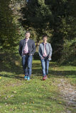 Dobiera się dla spaceru w Bawarskim lesie Obraz Stock