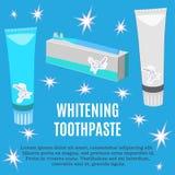 Dobierania pasta do zębów reklamy wektorowa płaska ilustracja royalty ilustracja