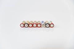 Doble baterías Imagen de archivo libre de regalías