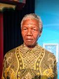 Doble de la figura de cera de Nelson Mandela Foto de archivo
