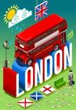Doble Decker Postcard de Londres stock de ilustración