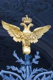 Doble el águila dirigida en el palacio del invierno, St Petersburg Fotografía de archivo libre de regalías