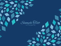 Doble horizontal azul de la textura de mosaico del vector Imágenes de archivo libres de regalías