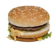 Doble la hamburguesa Fotografía de archivo libre de regalías