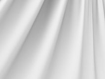 Dobleces abstractos blancos del fondo de seda del paño del satén de la tela Imagenes de archivo
