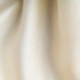 Dobleces ondulados del fondo del paño blanco del extracto de la textura de la materia textil Imagen de archivo