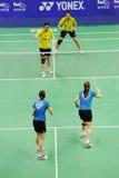 Dobles de las mujeres, campeonatos 2011 de Asia del bádminton Fotografía de archivo