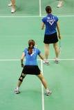 Dobles de las mujeres, campeonatos 2011 de Asia del bádminton Foto de archivo