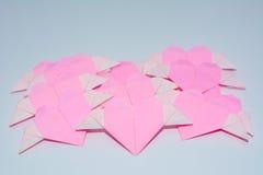 Doblez en forma de corazón Imagen de archivo libre de regalías