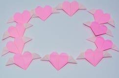 Doblez en forma de corazón Fotos de archivo