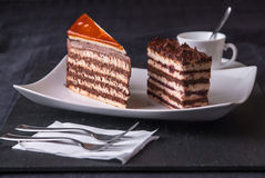 Dobos Cake. Sweet Cakes ready to serve Royalty Free Stock Image