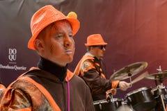Dobosza gracz przy Karnawałową paradą, Stuttgart Obrazy Stock