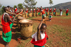Dobosze Burundi Zdjęcia Stock
