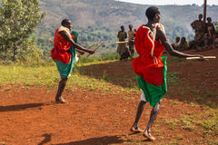 Dobosze Burundi Zdjęcia Royalty Free