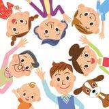 Dobra przyjaciel rodzina ilustracji